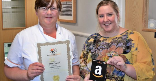 Diane Corcoran is awarded Learner of the Month!